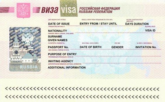 Visa Russie Passeport