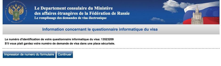 Le remplissage des demandes de visa électronique Russie 3
