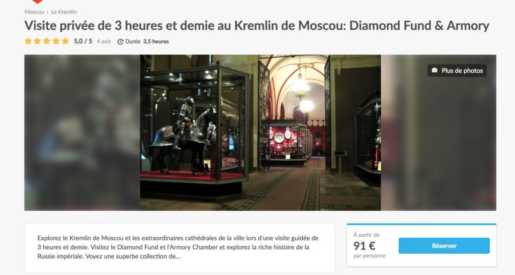 Visite privee de 3 heures et demie au Kremlin de Moscou - Diamond Fund and Armory