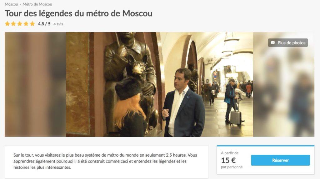 Tour des legendes du metro de Moscou