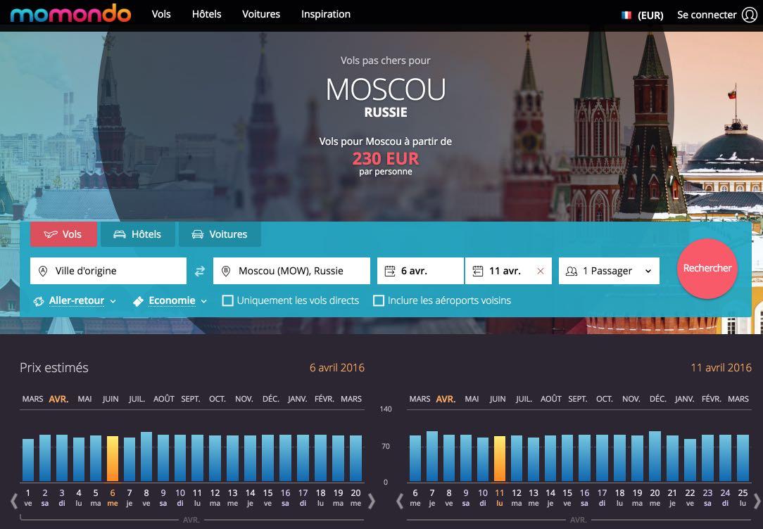 Vol Moscou pas cher - Billet d'avion Moscou, Russie – momondo
