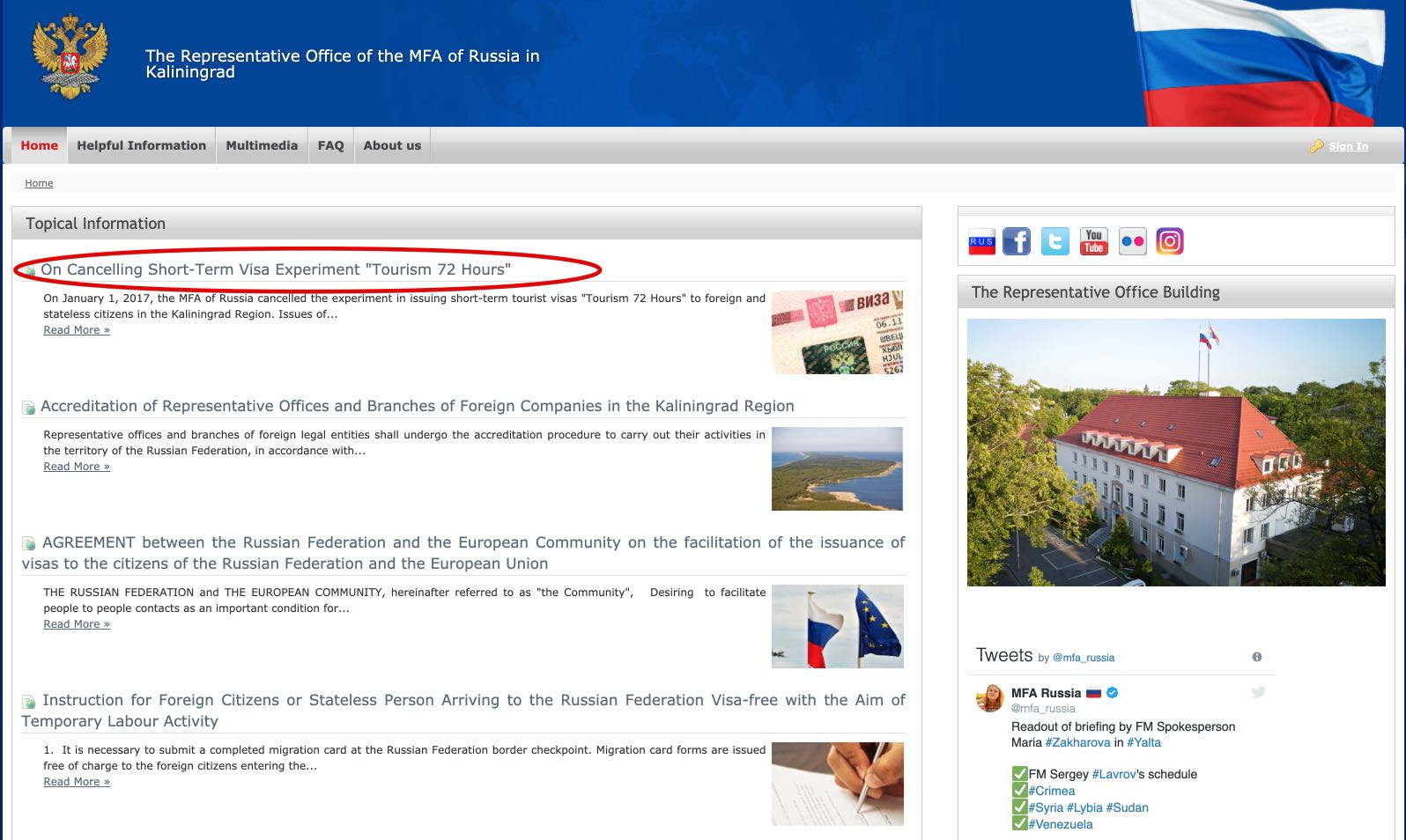 Le-Représentant-Bureau-de-l'AMF-de-Russie-à-Kaliningrad-Annuler-Visa-sans-visa-72 heures