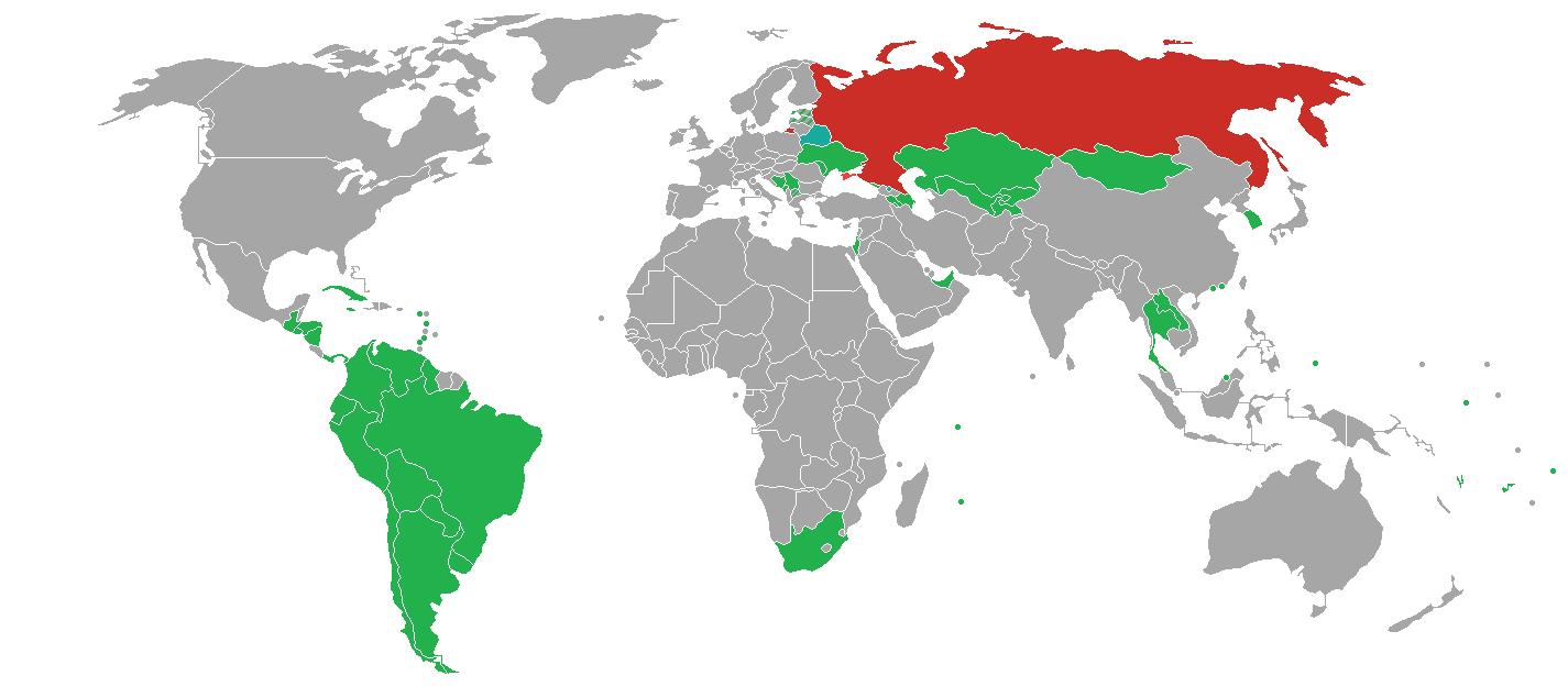 Politique de visa en Russie - Pays sans visa - Visa Free