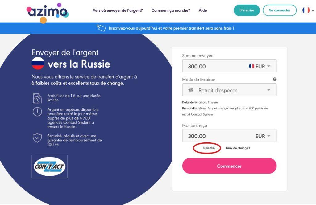 Envoyer de argent vers la Russie avec Azimo