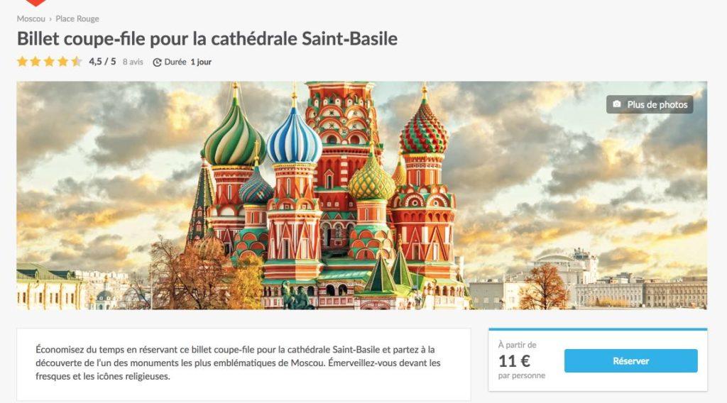 Billet coupe-file pour la cathedrale Saint-Basile