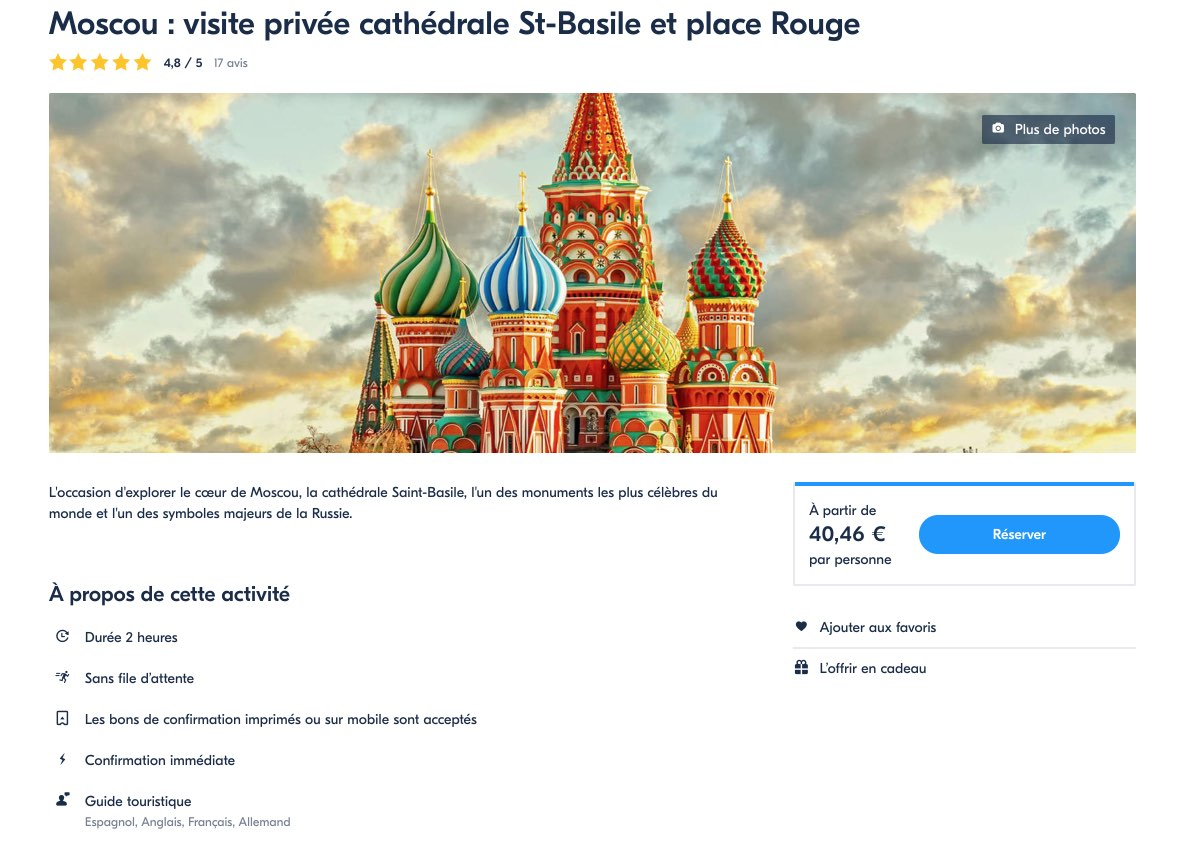 Moscou- visite privee cathedrale St-Basile et place Rouge