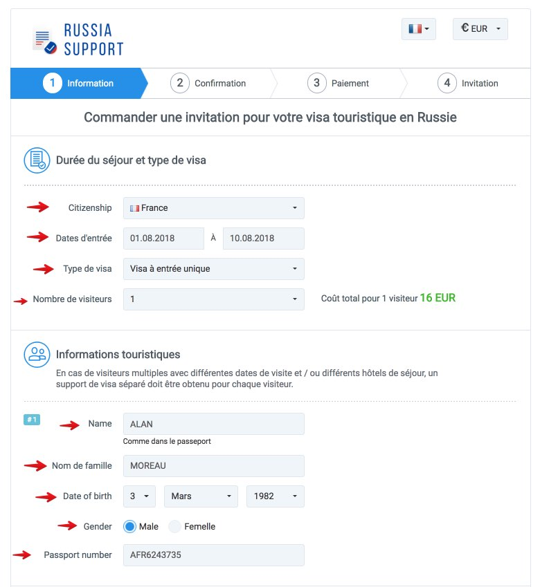 Invitation en Russie - Russia Support 1