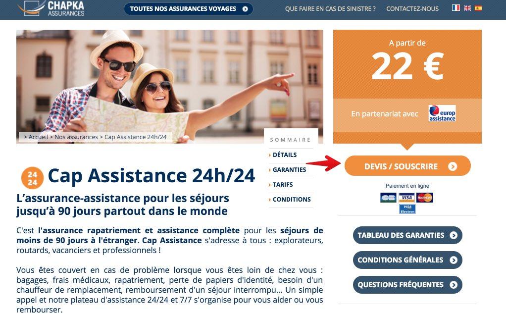 Assurance medicale pour voyager en Chine - Chapka Assurances - Etape 2