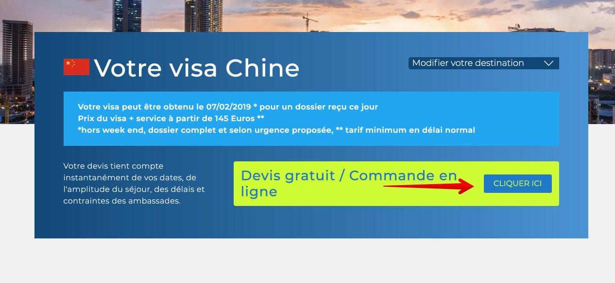 Commande de visas - Action Visas - Visa Chine