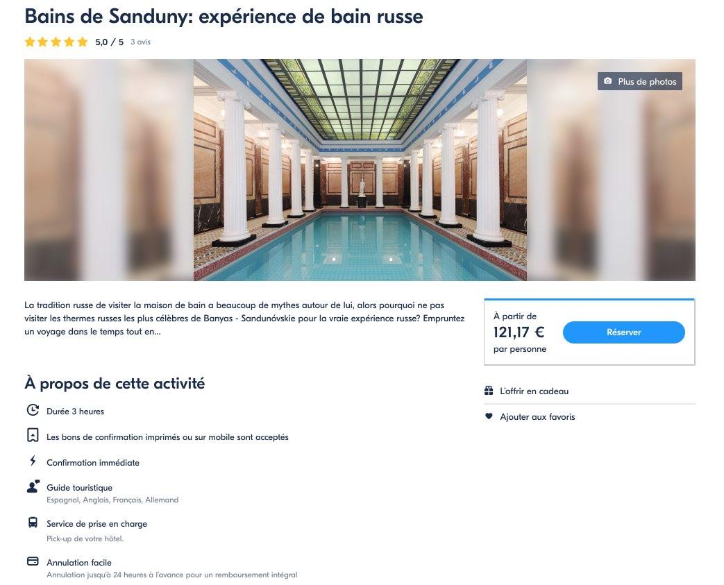 Bains de Sanduny - Experience de bain russe