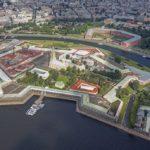 La forteresse Pierre et Paul de Saint-Petersbourg - Vue aerienne