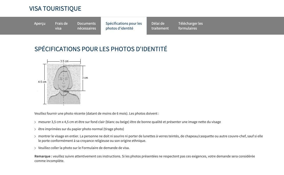 Specifications pour les photos identite visa russe - Informations sur les visas pour la Russie en France
