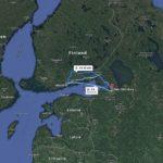 Carte de la route Helsinki en Finlande a Saint-Petersbourg - Google maps