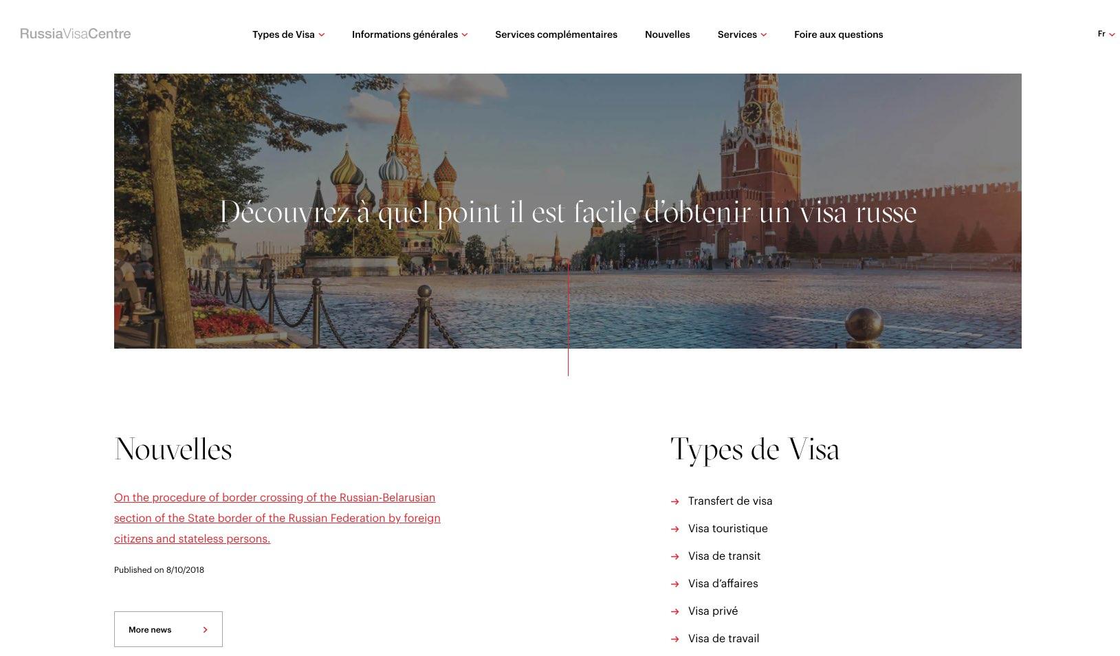 Russia Visa Centre in Canada