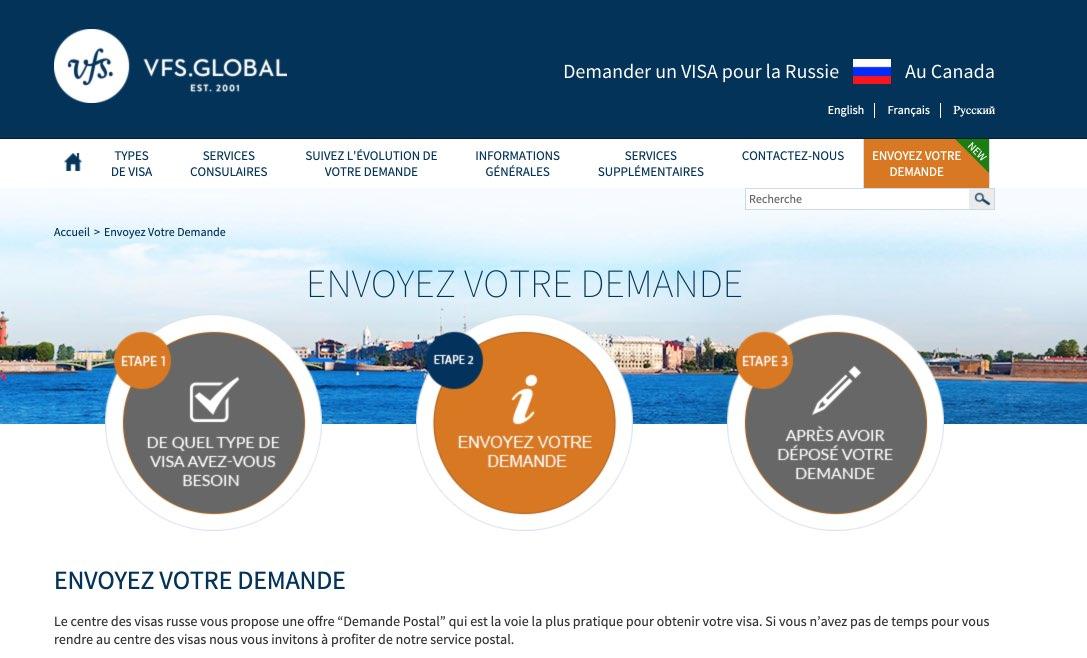 Russia Visa Information in Canada - Envoyez Votre Demande